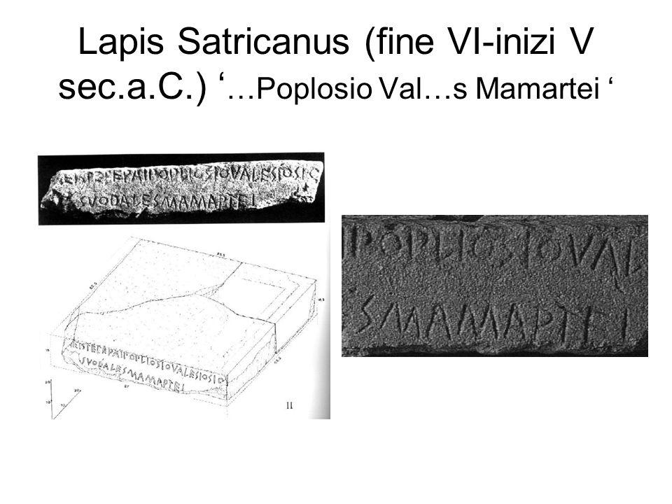 Lapis Satricanus (fine VI-inizi V sec. a. C