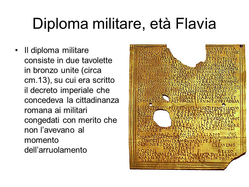 Diploma militare, età Flavia