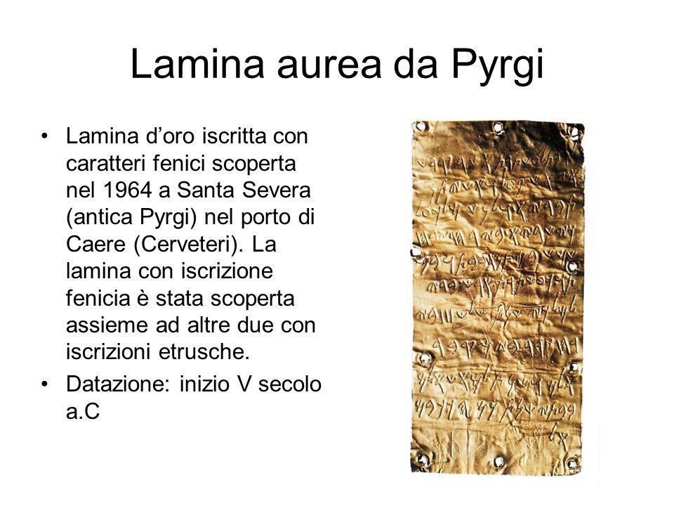 Lamina aurea da Pyrgi