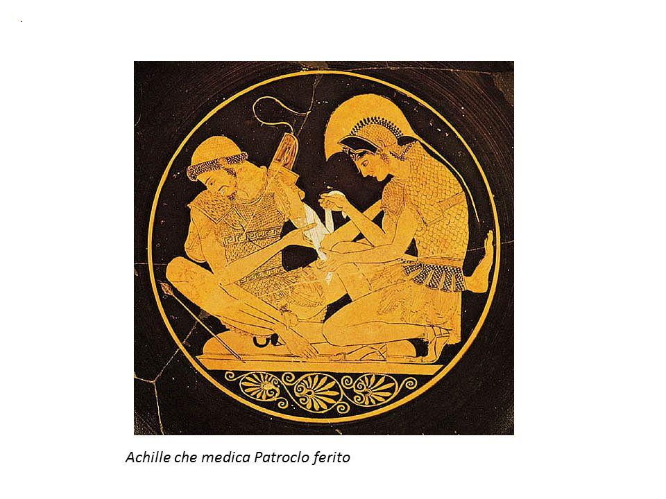 Achille che medica Patroclo ferito