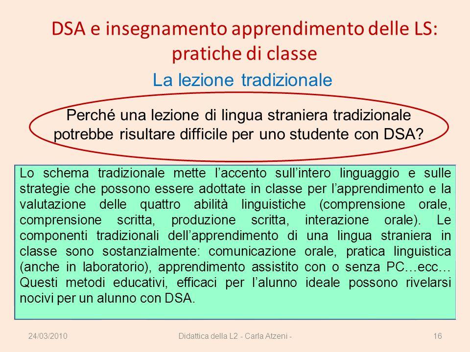 DSA e insegnamento apprendimento delle LS: pratiche di classe