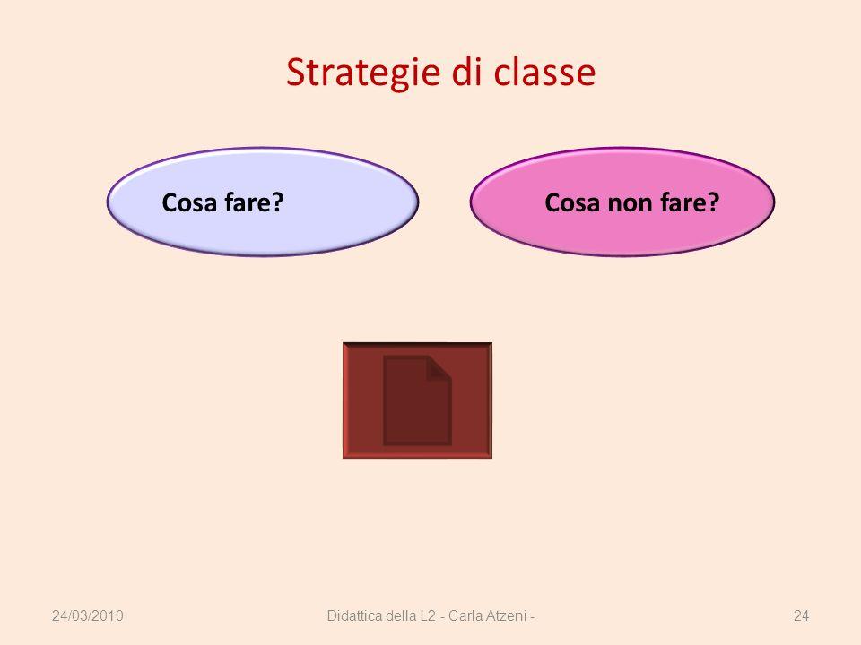 Didattica della L2 - Carla Atzeni -