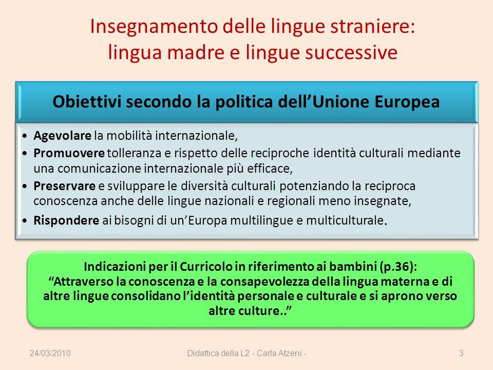 Insegnamento delle lingue straniere: lingua madre e lingue successive