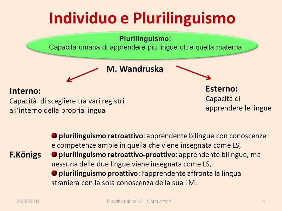 Individuo e Plurilinguismo