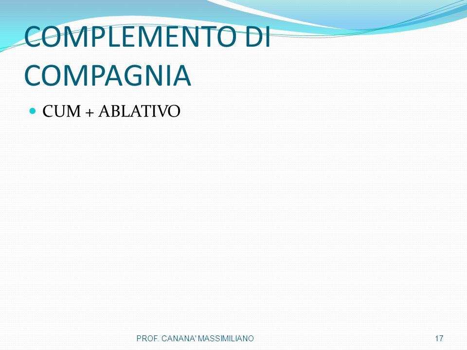 COMPLEMENTO DI COMPAGNIA