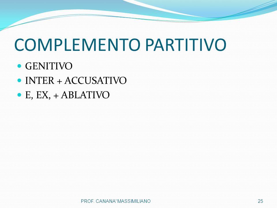 COMPLEMENTO PARTITIVO