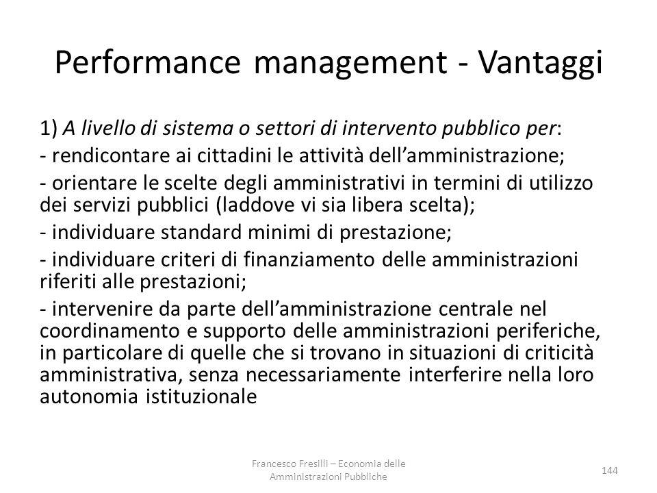 Performance management - Vantaggi
