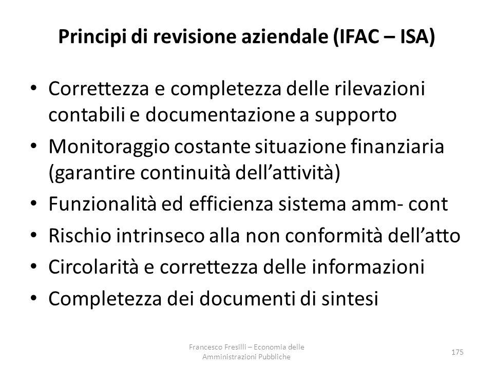 Principi di revisione aziendale (IFAC – ISA)