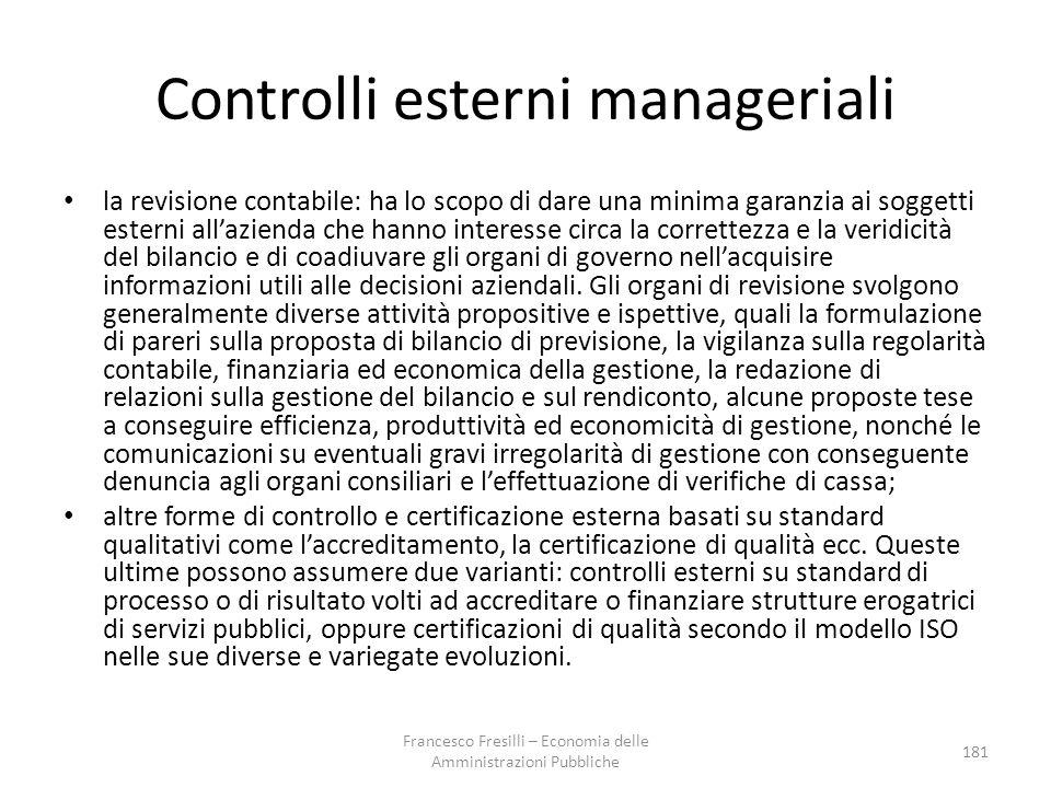 Controlli esterni manageriali