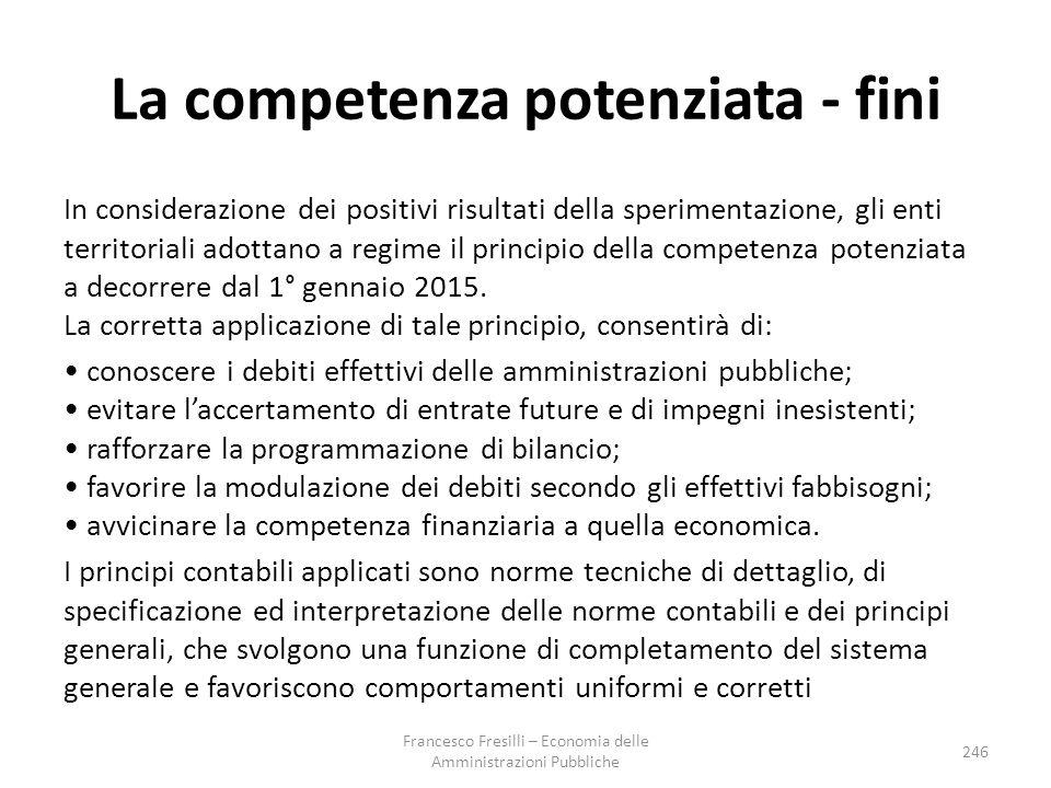 La competenza potenziata - fini