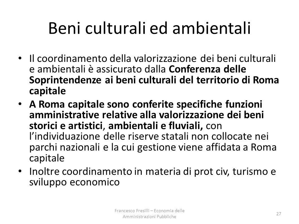 Beni culturali ed ambientali