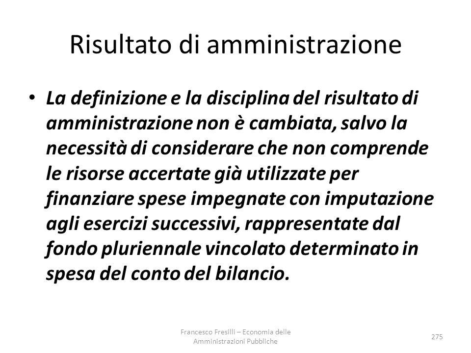 Risultato di amministrazione