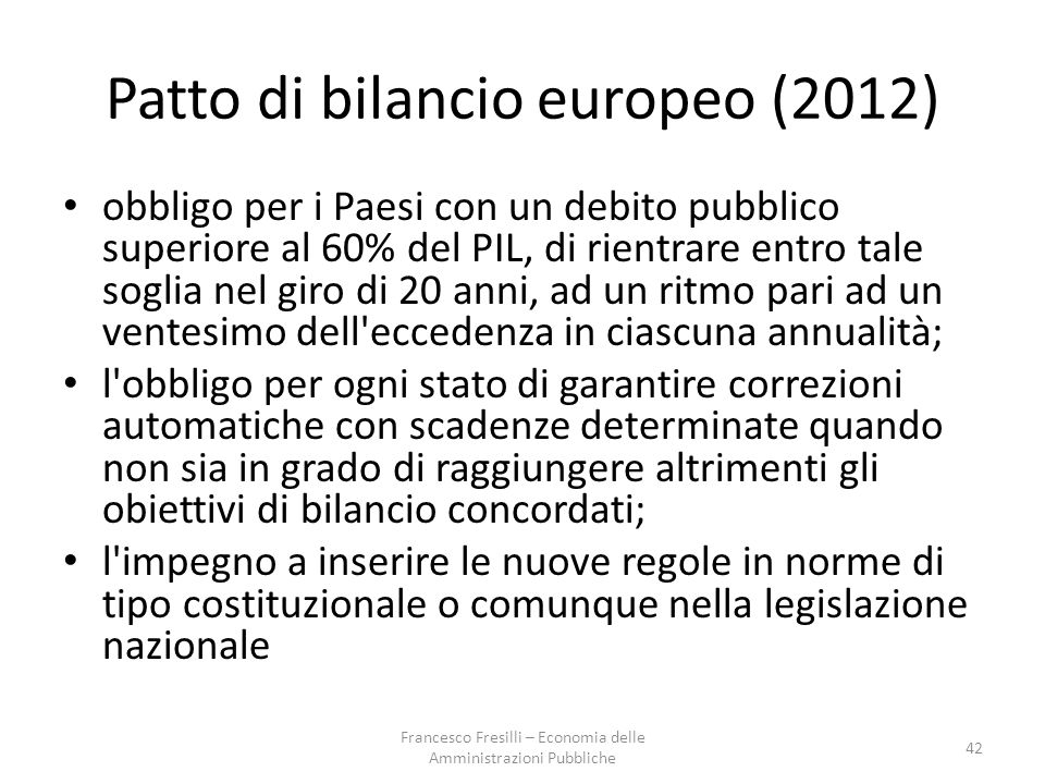 Patto di bilancio europeo (2012)