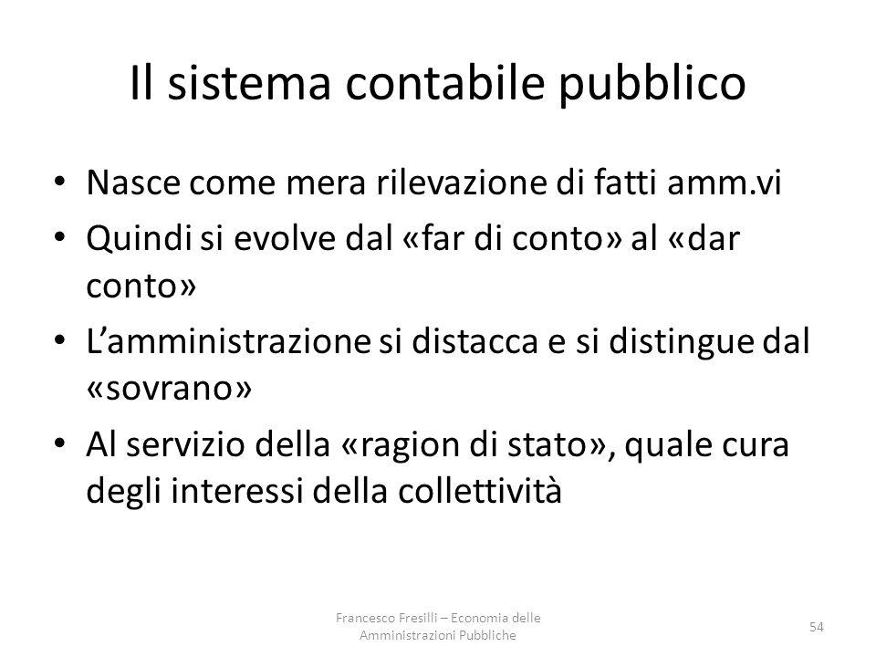 Il sistema contabile pubblico