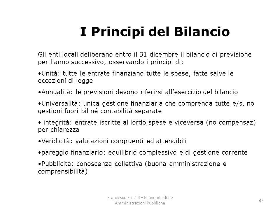 I Principi del Bilancio