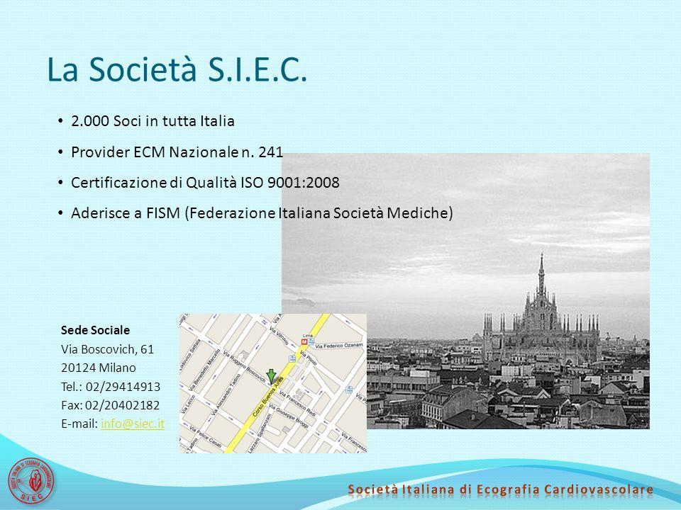 La Società S.I.E.C. 2.000 Soci in tutta Italia
