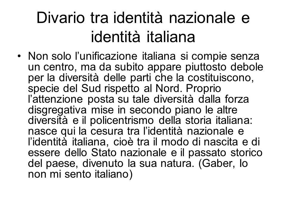 Divario tra identità nazionale e identità italiana