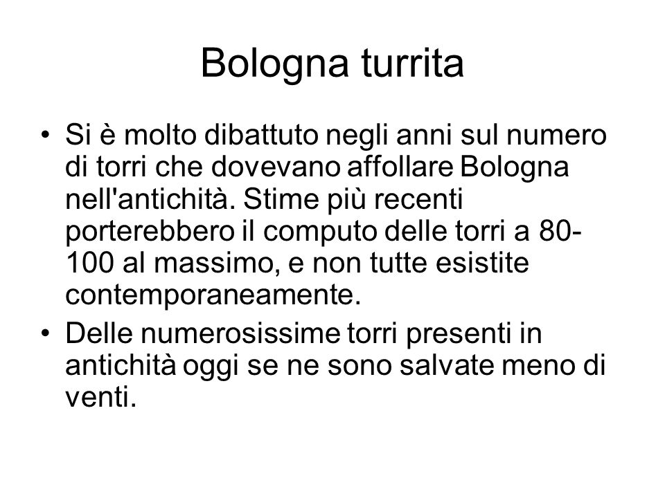Bologna turrita