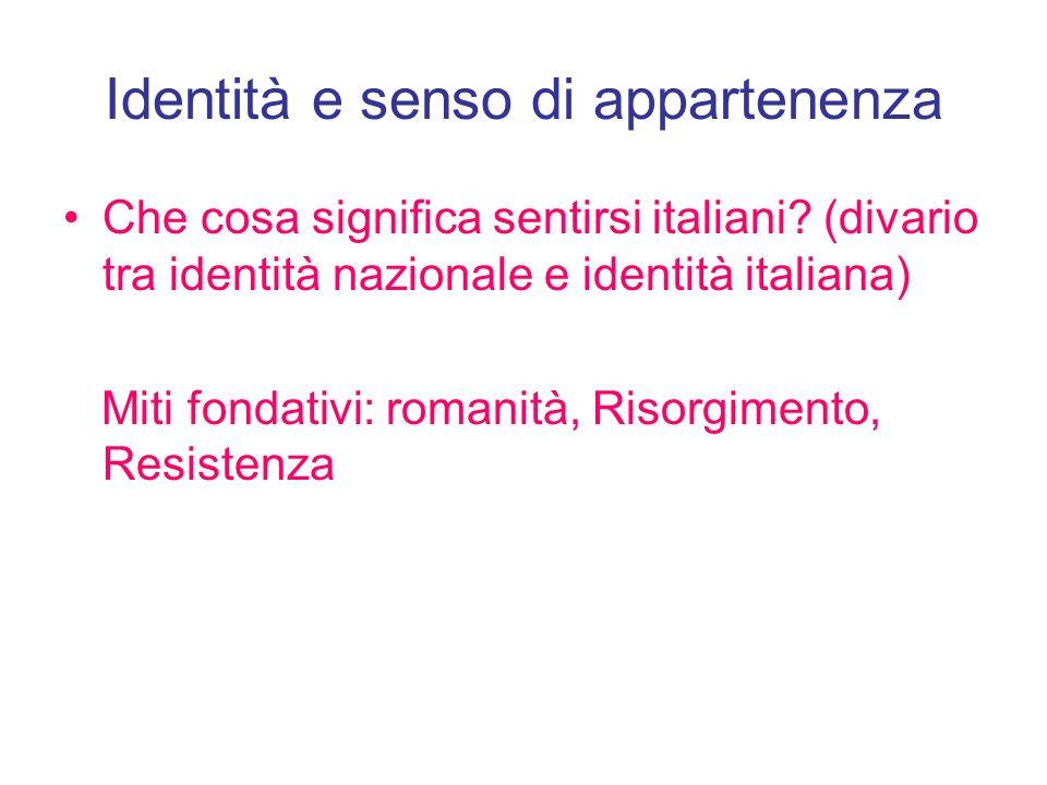Identità e senso di appartenenza