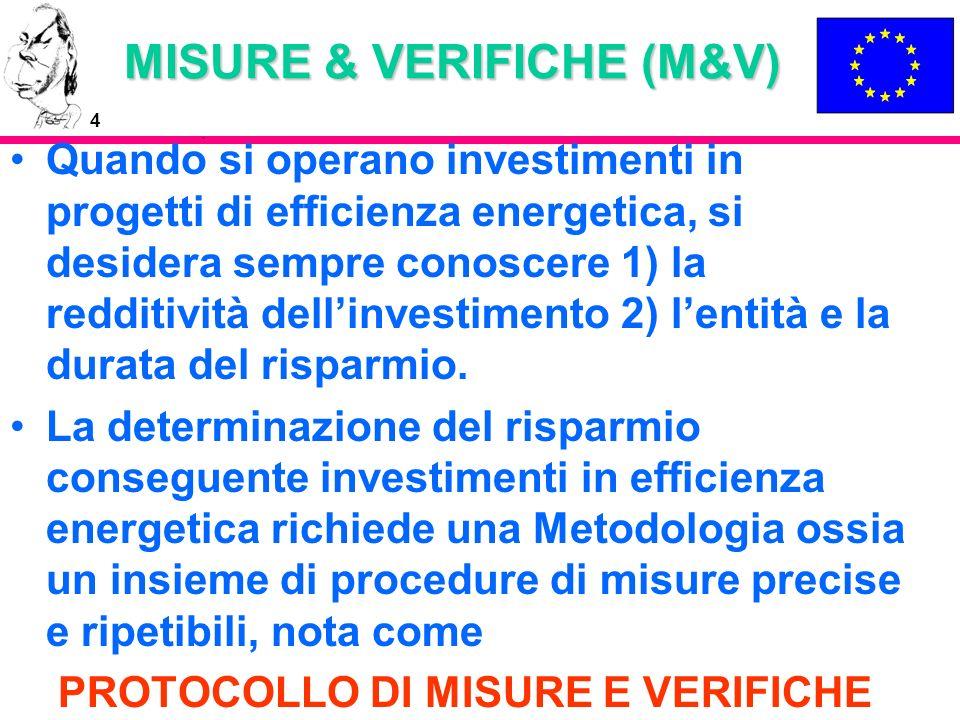 MISURE & VERIFICHE (M&V)