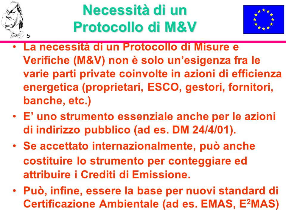 Necessità di un Protocollo di M&V