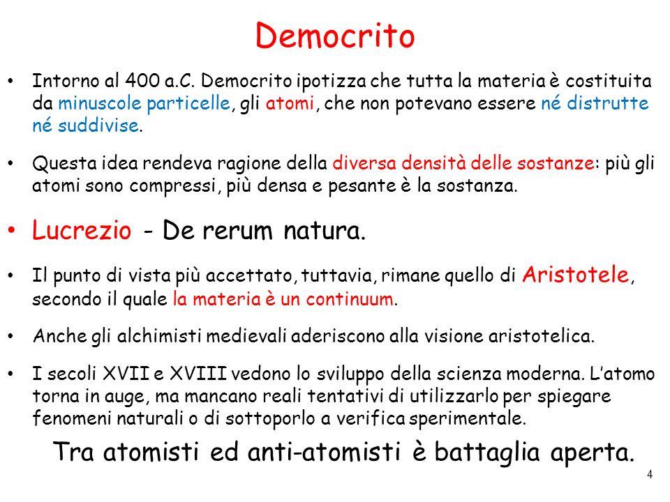 Democrito Lucrezio - De rerum natura.