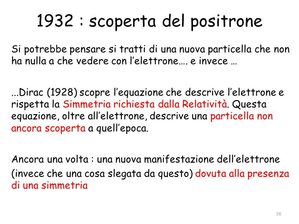 1932 : scoperta del positrone