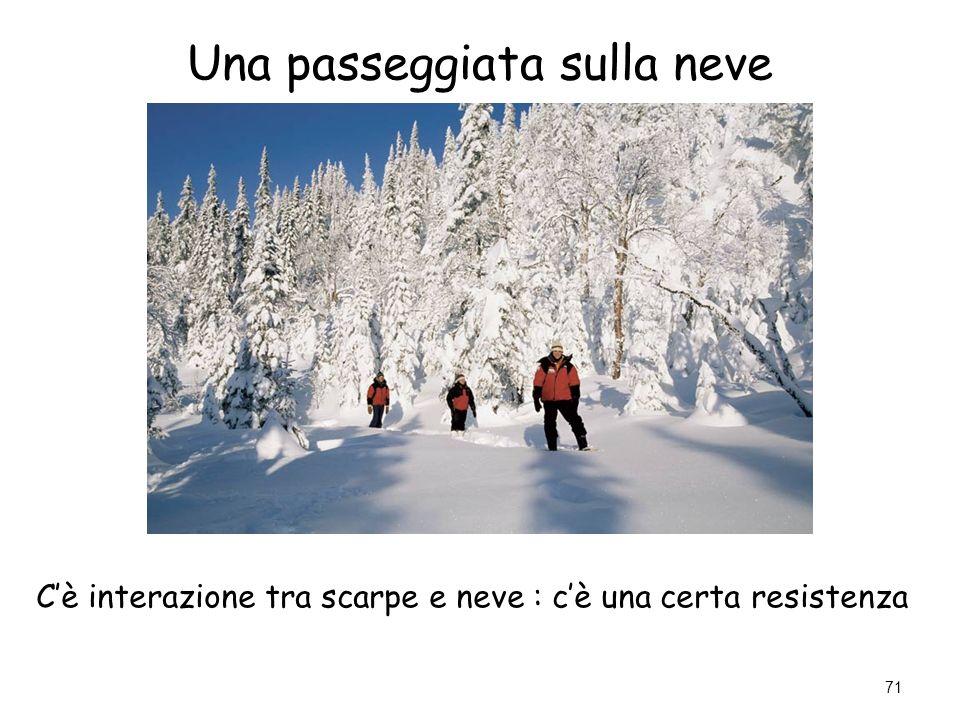 Una passeggiata sulla neve