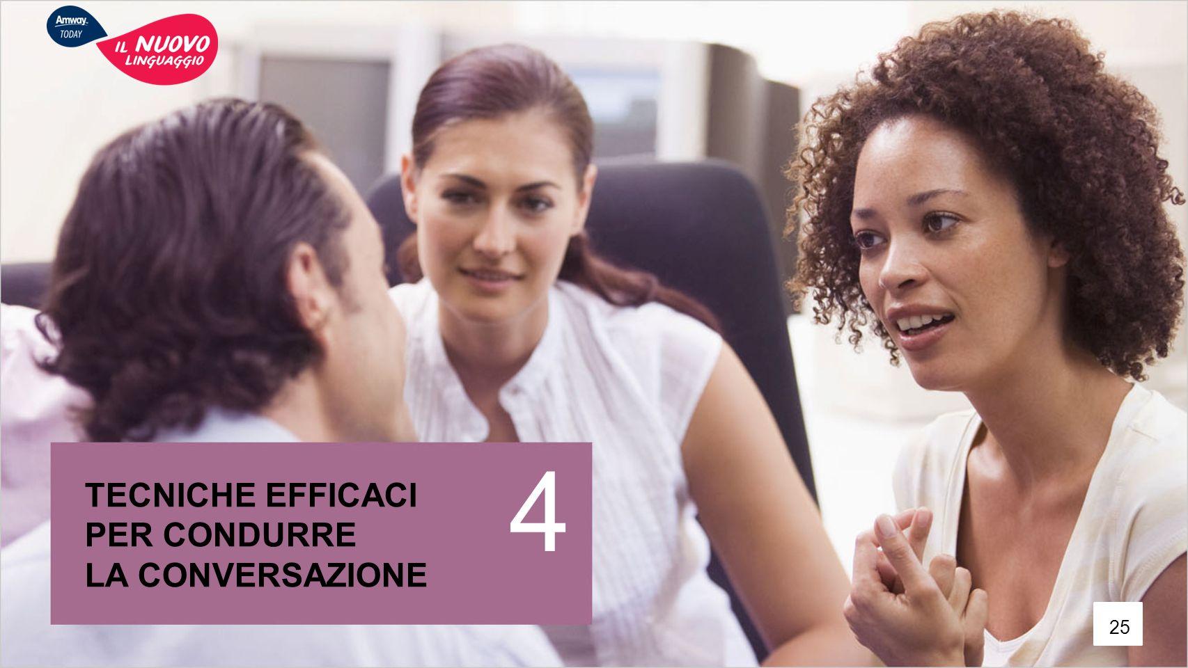 4 TECNICHE EFFICACI PER CONDURRE LA CONVERSAZIONE 25