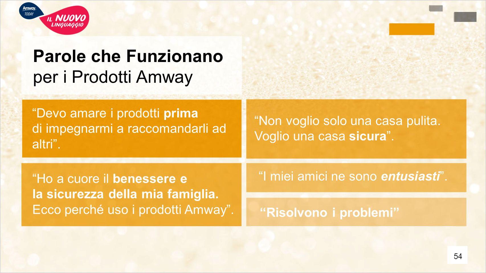 Parole che Funzionano per i Prodotti Amway