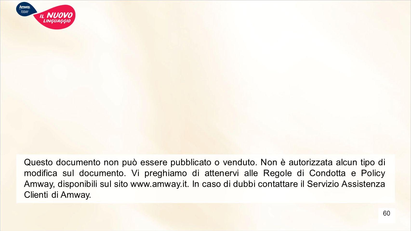 Questo documento non può essere pubblicato o venduto