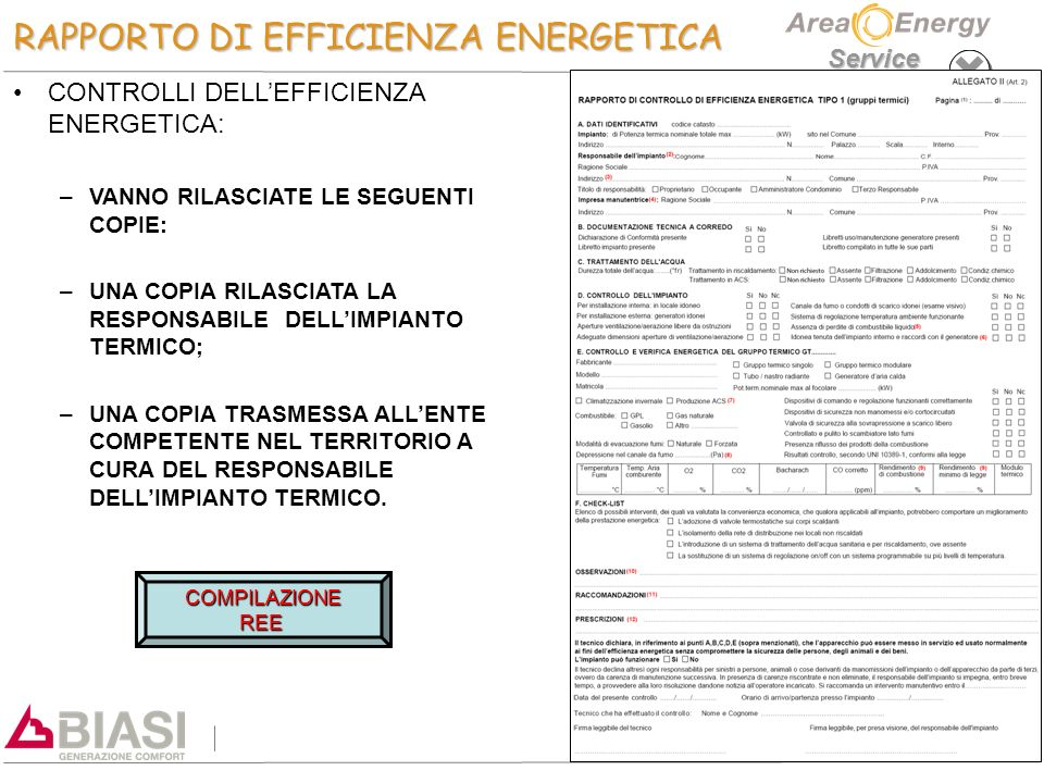 RAPPORTO DI EFFICIENZA ENERGETICA