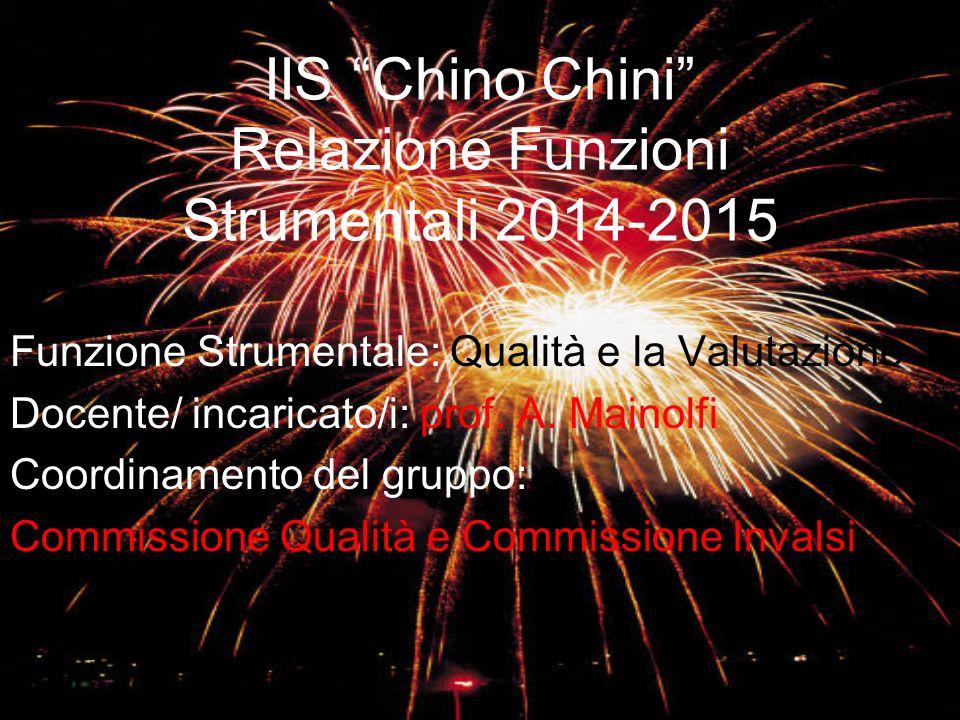 IIS Chino Chini Relazione Funzioni Strumentali 2014-2015