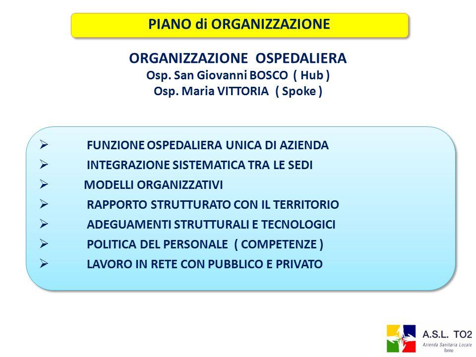 PIANO di ORGANIZZAZIONE ORGANIZZAZIONE OSPEDALIERA
