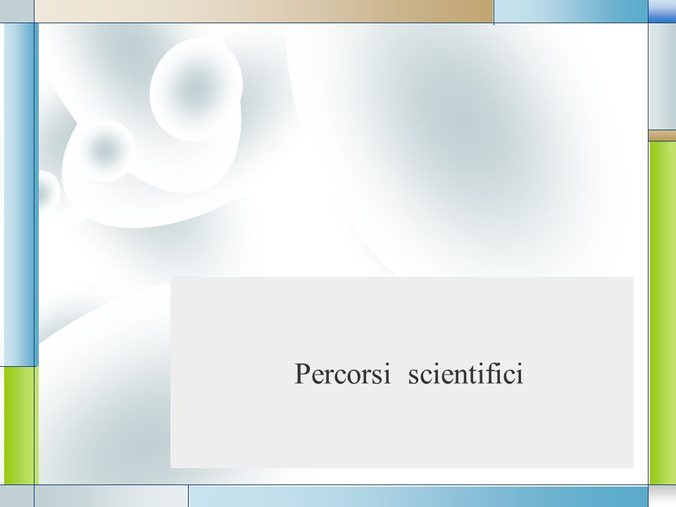 Percorsi scientifici