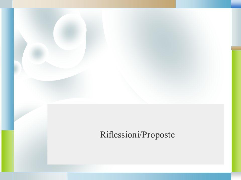 Riflessioni/Proposte