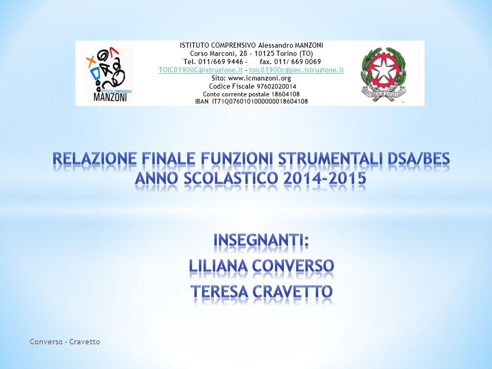 Insegnanti: Liliana Converso Teresa Cravetto