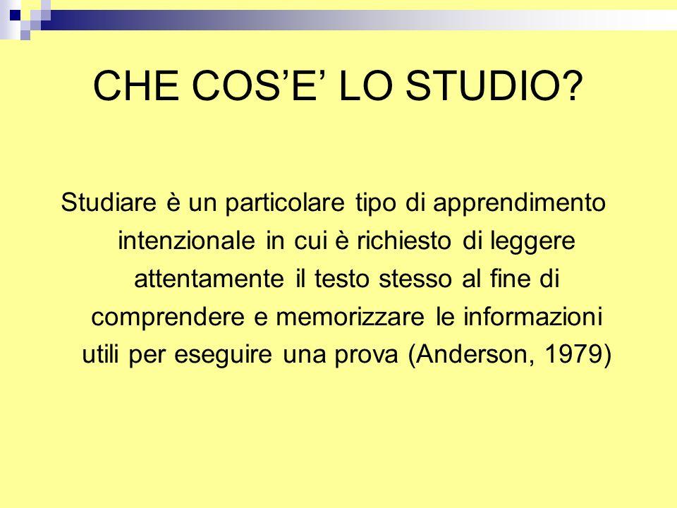 CHE COS'E' LO STUDIO