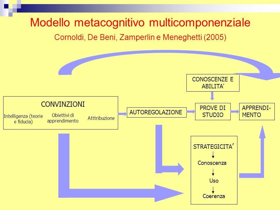 Modello metacognitivo multicomponenziale Cornoldi, De Beni, Zamperlin e Meneghetti (2005)