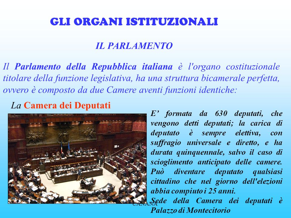 La costituzione italiana ppt video online scaricare for Camera dei deputati on line