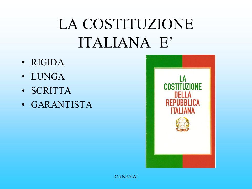 LA COSTITUZIONE ITALIANA E'