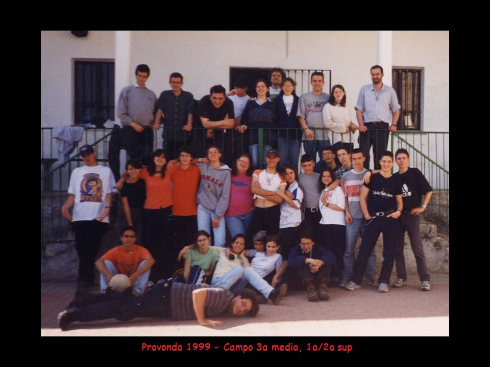 Provonda 1999 - Campo 3a media, 1a/2a sup