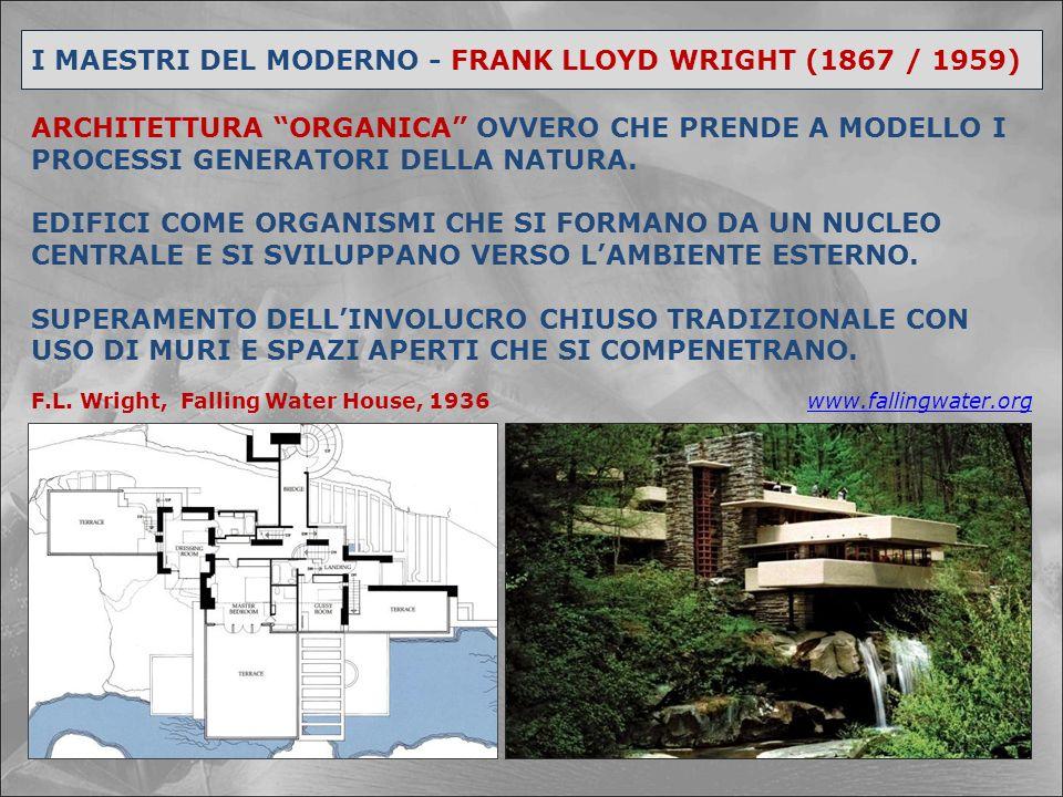 I MAESTRI DEL MODERNO - FRANK LLOYD WRIGHT (1867 / 1959)