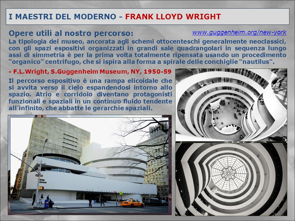 I MAESTRI DEL MODERNO - FRANK LLOYD WRIGHT