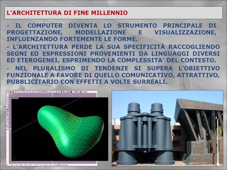 L'ARCHITETTURA DI FINE MILLENNIO