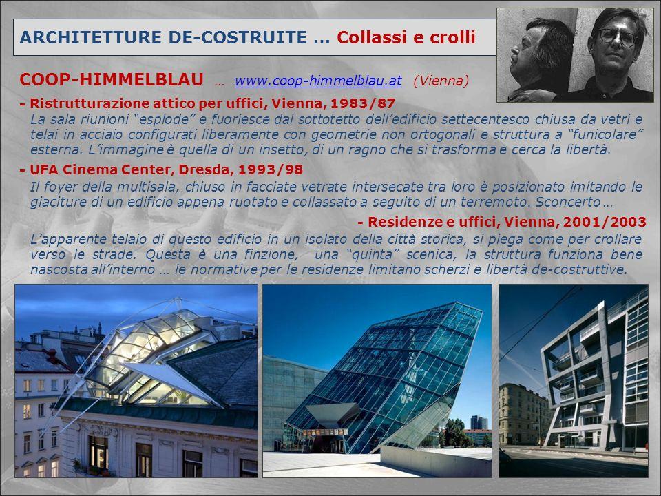 ARCHITETTURE DE-COSTRUITE … Collassi e crolli