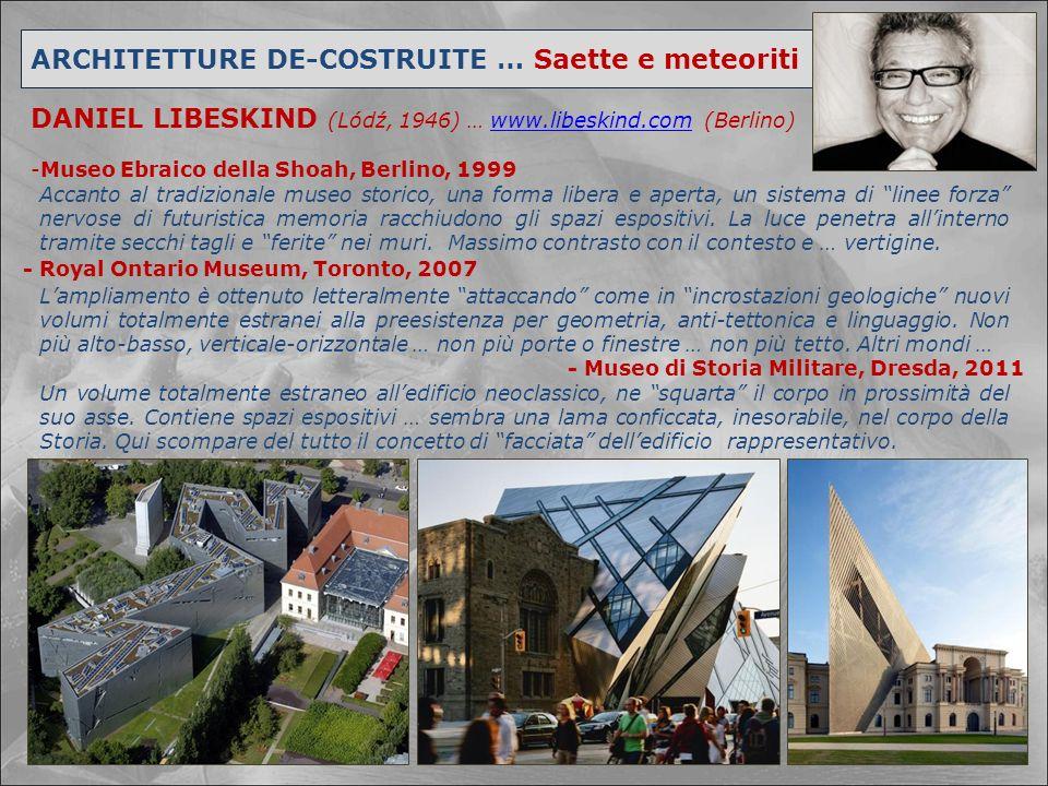 ARCHITETTURE DE-COSTRUITE … Saette e meteoriti