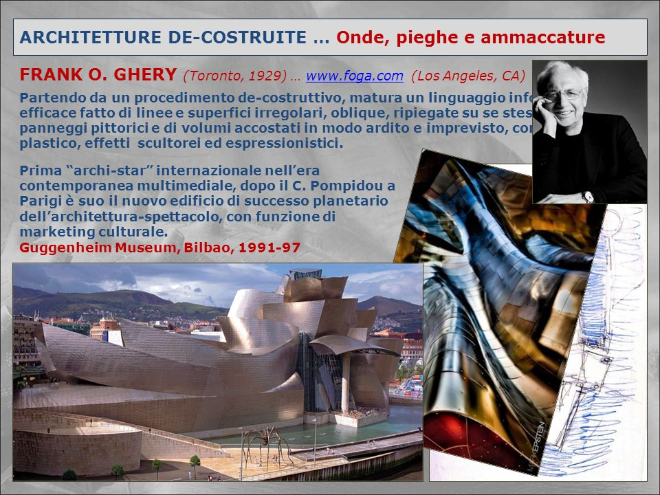 ARCHITETTURE DE-COSTRUITE … Onde, pieghe e ammaccature