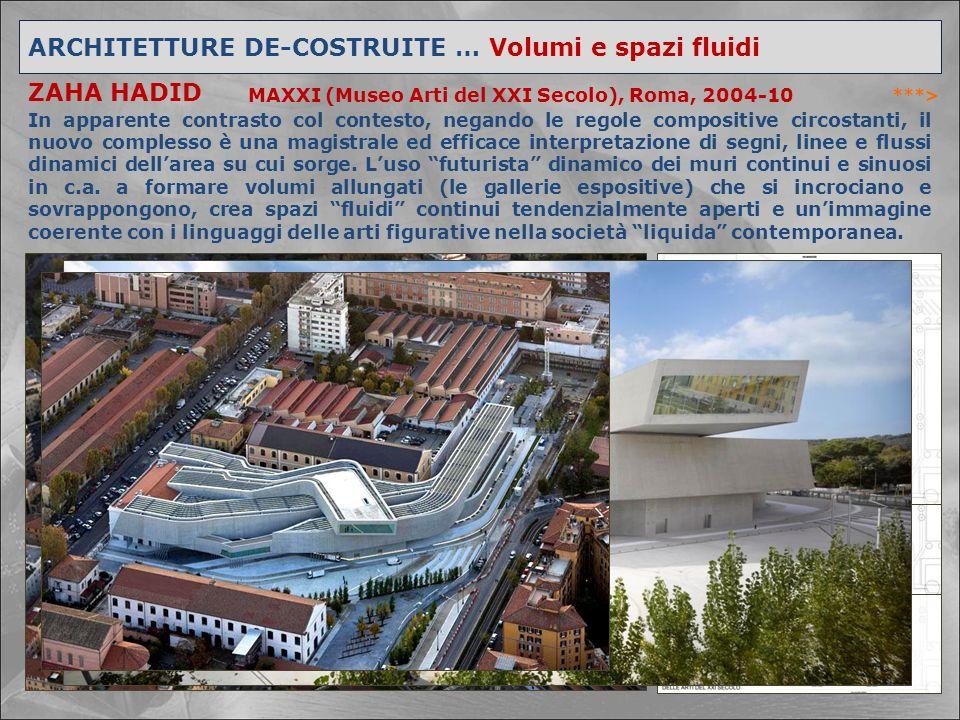 ARCHITETTURE DE-COSTRUITE … Volumi e spazi fluidi