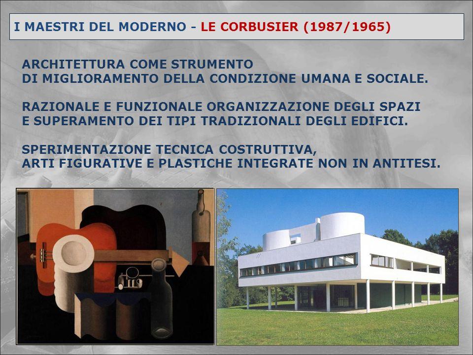 I MAESTRI DEL MODERNO - LE CORBUSIER (1987/1965)
